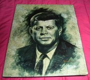 Hand Crafted Lacquer Art Eggshell Inlaid of  President Kennedy in Alamogordo, New Mexico