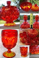 1930's 7 Piece Glass Lot Moon and Stars Pattern Amberina in Fort Leonard Wood, Missouri
