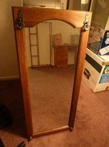 Antique Mirror from Germany with Wood Trim in Camp Pendleton, California