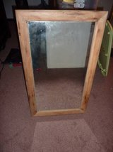 Old Mirror with Wooden Trim, Heavy in Camp Pendleton, California