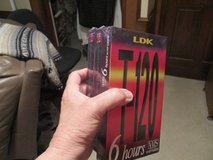 New Sealed 3-Pack VHS Blank Tapes - Each One Allows 6 Hours Of Taping in Kingwood, Texas