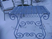 shabby chic blue wire table in Naperville, Illinois
