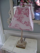 toille pink and white lamp in Naperville, Illinois