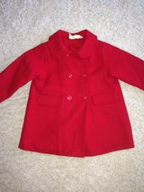 Red Wool Coat, 24 Months in New Lenox, Illinois