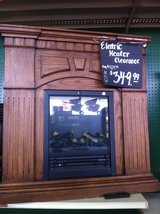 Electric Fireplace with Mantle in Clarksville, Tennessee