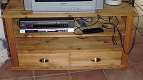 Solid Wood TV Stand or Small Entertainment Center in Ramstein, Germany